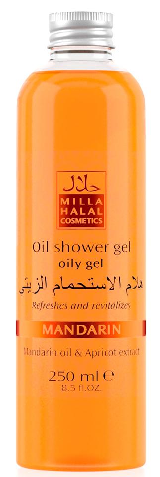 Milla Halal Cosmetics Гель для душа с маслом мандарина и экстрактом абрикоса MILLA MANDARIN, 250МЛ  milla halal cosmetics жидкое мыло для рук и тела с маслом мандарина и экстрактом граната milla mandarin 250мл
