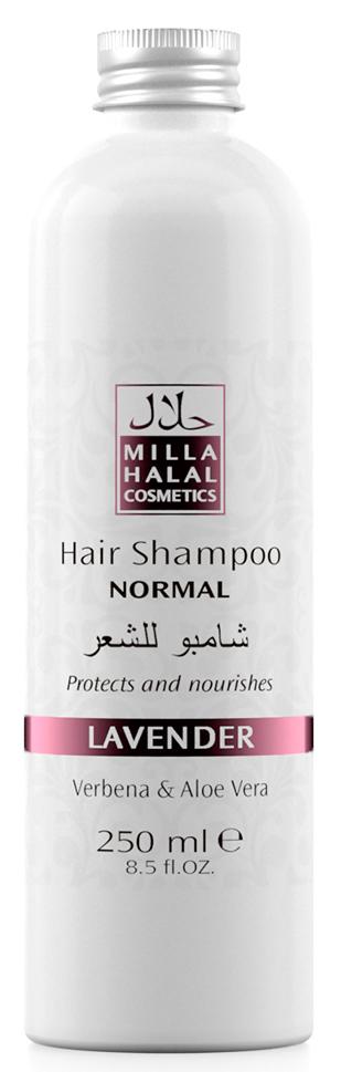 Milla Halal Cosmetics Шампунь для нормальных волос с экстрактами вербены и алоэ вера MILLA LAVANDER, 250МЛFS-00897100% натуральный продукт. Шампунь быстро и эффективно очищает волосы, стимулирует их рост. Входящий в состав шампуня экстракт листьев и цветов Вербены лекарственной, способствует заживлению ранок кожи головы. Экстракт листьев Алоэ Вера способствует быстрой регенерации клеток кожи.