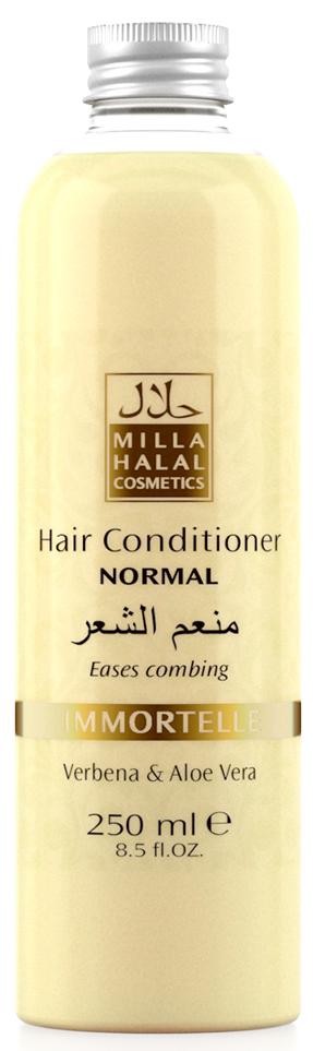 Milla Halal Cosmetics Кондиционер для нормальных волос с экстрактами вербены и алоэ вера MILLA IMMORTELLE, 250МЛFS-00897100% натуральный продукт. Кондиционер для нормальных волос с экстрактами листьев Вербены лекарственной и Алоэ Вера является эффективным средством по уходу за любым типом волос, подходит для частого применения. Кондиционер значительно облегчает расчёсывание волос, не утяжеляет их.