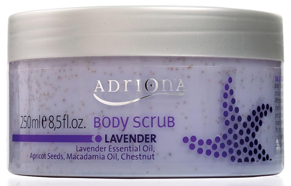 Adriona Скраб для тела Лаванда , 250МЛFS-00897100% натуральный продукт. Скраб для тела «Лаванда» оказывает очищающее воздействие на кожу, активизирует циркуляцию крови, препятствует формированию целлюлита. Скраб для тела деликатно удаляет ороговевшие клетки кожи. После применения скраба для тела, кожа становится гладкой и эластичной.