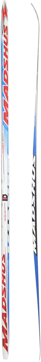 Лыжи беговые Madshus Race Combi MG, цвет: белый, красный, синий, длина 205 смASE-611FMadshus Race Combi MG - это добротные, надежные, универсальные беговые лыжи для любителей. Изделия изготовлены из прочных материалов. Лыжи оснащены деревянным сердечником с воздушными каналами. Изделия имеют специальные насечки MG для классического хода. Лыжи легкоуправляемые, не требуют специального ухода и долговечны в использовании.Ширина лыжи в месте крепления ботинка: 4 см.