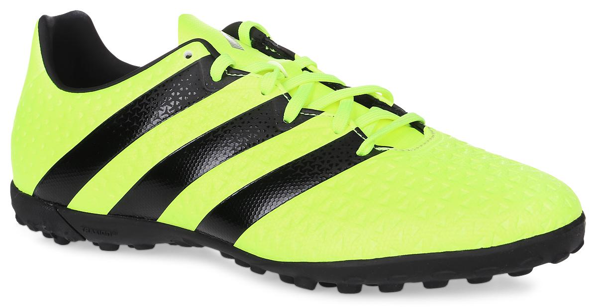 Бутсы мужские Adidas Ace 16.4 tf, цвет: желтый, черный. Размер 9,5 (42,5)819190-004Футбольные бутсы Adidas Ace 16.4 tf применяются для игры на искусственных полях. Гибкий верх Control Feel обеспечивает прекрасное чувство мяча, делая каждый пас безукоризненным. Подошва Total Control для маневренности и превосходной устойчивости на жестких искусственных покрытиях. Верх бутс выполнен из прочного искусственного материала. Внутри также искусственный материал и текстиль.
