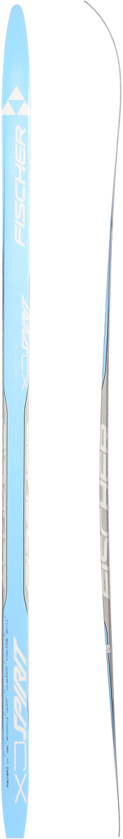 Лыжи беговые Fischer  Spirit Crown Blue Jr , цвет: голубой, серый, длина 160 см - Беговые лыжи