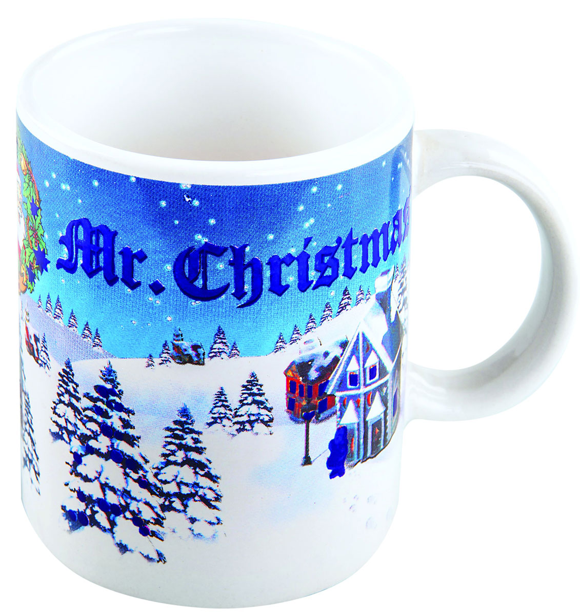 Кружка-хамелеон Mister Christmas, высота 9,5 см115510Кружка-хамелеон Mister Christmas выполнена из высококачественного фарфора. Если в нее налить горячий напиток, то надпись Mr. Christmas меняет цвет. Такой подарок станет не только приятным, но и практичным сувениром: кружка станет незаменимым атрибутом чаепития, а оригинальный дизайн вызовет улыбку.