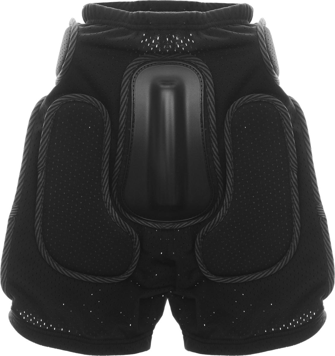 Шорты защитные Biont Комфорт, цвет: черный, размер XL246_155Защитные шорты Biont Комфорт - это необходимая часть снаряжения сноубордистов, любителей экстремального катания на роликах, байкеров, фанатов зимнего кайтинга. Шорты изготовлены из мягкой эластичной потовыводящей сетки с хорошей воздухопроницаемостью под накладками без остаточной деформации.Для обеспечения улучшенной вентиляции в шортах используется дышащая сетка спейсер. Комфортные защитные шорты Biont Комфорт идеальный выбор для любителей экстремального спорта. Толщина пластиковых накладок: 8-12 мм.