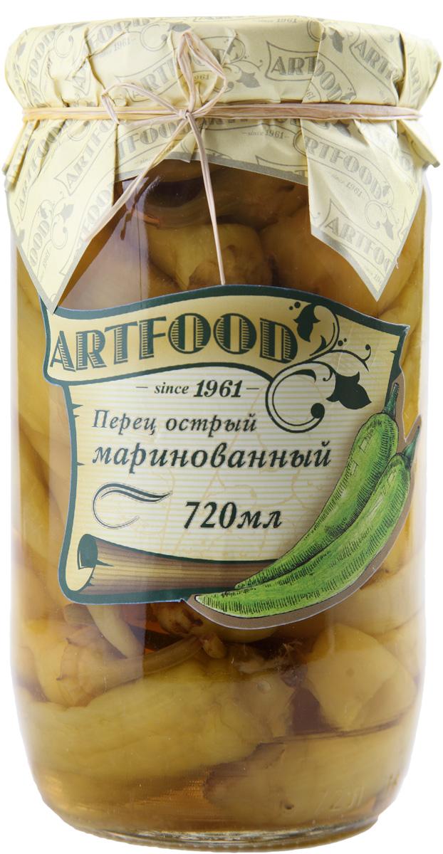 Artfood перец острый маринованный, 720 мл23001110200018Острый маринованный перец Artfood для любителей пикантных блюд.Его можно использовать как самостоятельную закуску или добавлять к мясу, в салаты и супы.