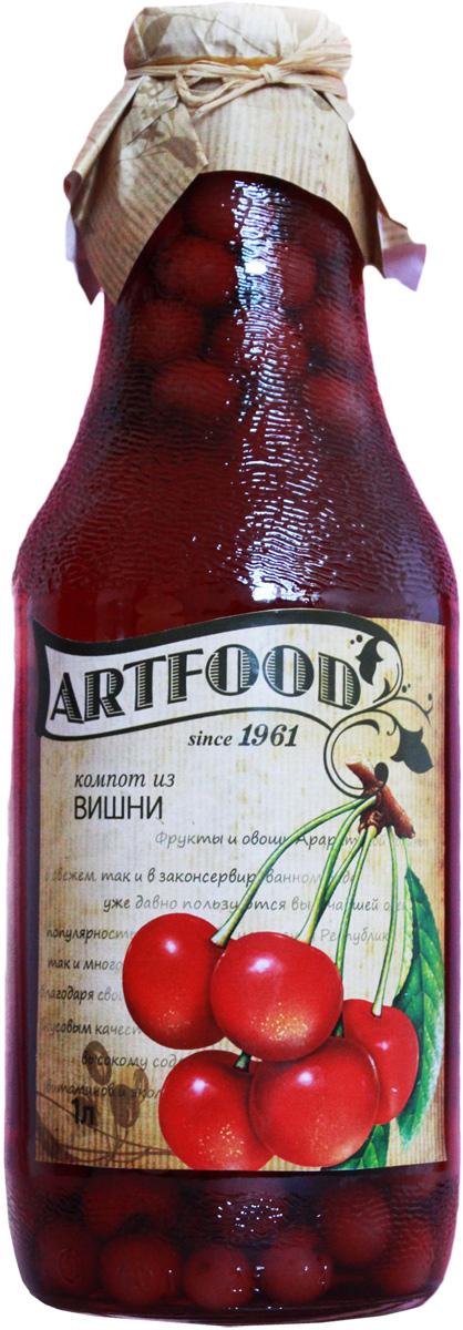 Artfood компот из вишни, 1 л4607050696120Компот обладает множеством полезных свойств в сравнении с другими жидкостями. В отличие от воды в нём содержатся витамины. От соков компот отличается тем, что не содержит такого обильного количества кислот, которые могут негативно повлиять на желудок