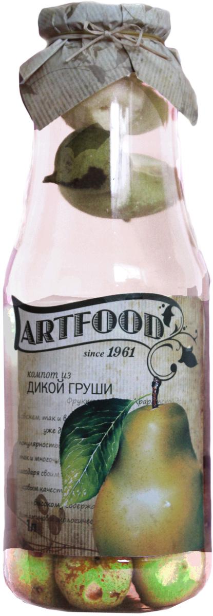 Artfood компот из дикой груши, 1 л0120710Компот обладает множеством полезных свойств в сравнении с другими жидкостями. В отличие от воды в нём содержатся витамины. От соков компот отличается тем, что не содержит такого обильного количества кислот, которые могут негативно повлиять на желудок