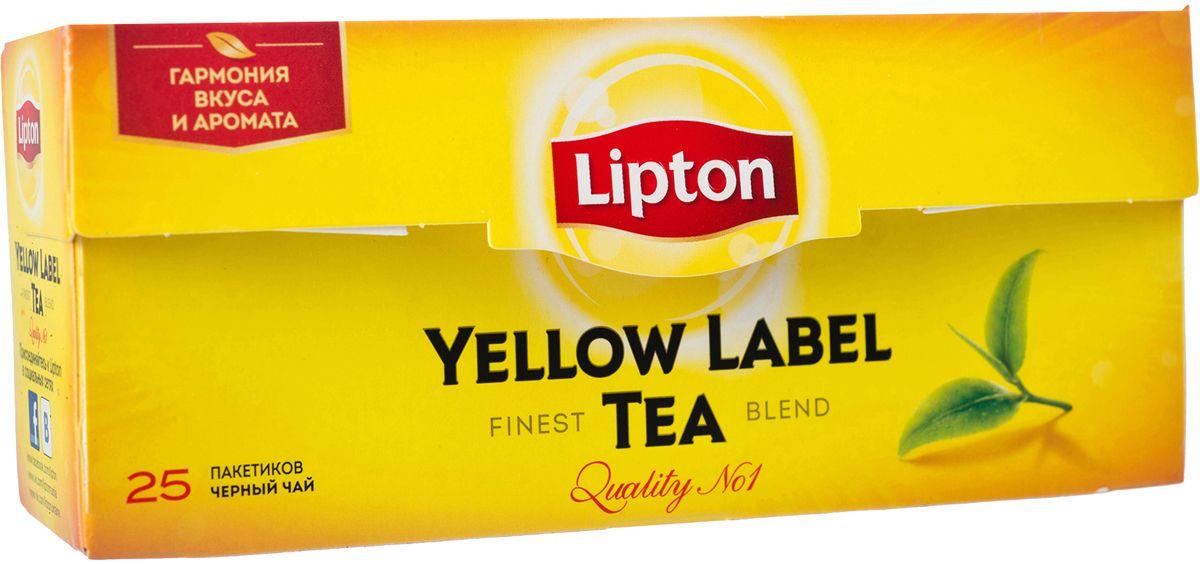 Lipton Yellow Label Черный чай Черный 25 шт