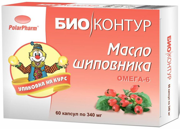 "Масло шиповника ""БиоКонтур"", в капсулах 340 мг, №60"