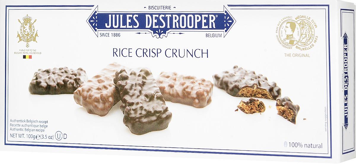 Jules Destrooper печенье с хрустящим рисом в шоколаде, 100 г0120710Хрустящее печенье Jules Destrooper с рисом, полностью покрытое молочным или темным бельгийским шоколадом.Уважаемые клиенты! Обращаем ваше внимание, что полный перечень состава продукта представлен на дополнительном изображении.