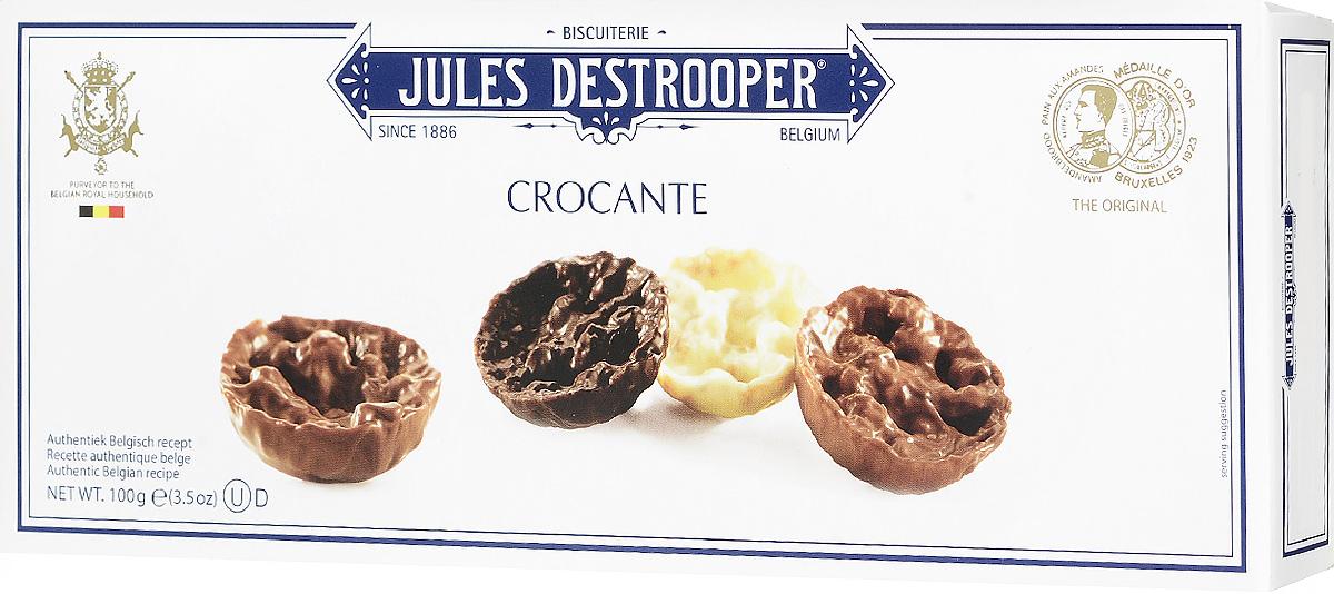 Jules Destrooper Флорентийское печенье с лесным орехом и хрустящим рисом, 100 г0120710Флорентийское печенье Jules Destrooper - это хрустящие карамельные бисквитики, заполненные ореховыми чипсами, воздушным хрустящим рисом и покрытые бельгийским шоколадом (молочным, белым и темным).Уважаемые клиенты! Обращаем ваше внимание, что полный перечень состава продукта представлен на дополнительном изображении.