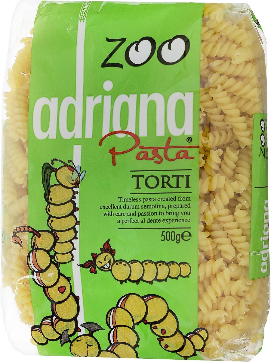 Adriana Torti паста, 500 г15023Все дети любят макароны по одной простой причине - их можно не только кушать, но и играться с ними, со свистом втягивая в себя, накручивая на вилку, строя в тарелке пирамиды. Компания Adriana учла это и разработала специальную серию пасты для малышей Zoo.Известно, что любое блюдо приносит большую пользу организму, если пища принимается с хорошим настроением. Особенно это касается детей, которым важно, чтобы еда, прежде всего, была привлекательна внешне. Поэтому, готовя детям даже обычные макароны, можно проявлять творчество и фантазию в оформлении блюд, и дети будут кушать с удовольствием! Многие родители пользуются этим, с радостью включая в рацион детей этот питательный продукт.Детские макароны произведены из муки твердых сортов пшеницы и воды, не содержат искусственных составляющих. Эти небольшие макароны в форме завитушек в яркой упаковке не оставят равнодушными ни малышей, ни их мам. Благодаря высокому содержанию растительного белка, витаминов группы В и витамина F они являются важной частью полноценного детского рациона и идеальным источником энергии для вашего малыша. Три в одном - накормиться, развлечься, научиться!