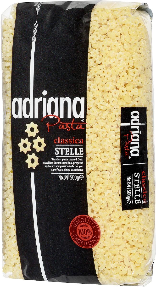 Adriana Stelle паста, 500 г0120710Adriana - высококачественная паста из 100% семолины.Только 100% семолина или качественная мука из специальных твердых сортов пшеницы гарантирует, что паста, даже после превышения рекомендуемого времени приготовления, не разварится и не слипнется после охлаждения. Небольшой, удобный размер и нежный вкус макаронных изделий позволяет использовать их для детского супчика.Способ приготовления: варить макаронные изделия в кипящей подсоленной воде (1 литр воды на 100 грамм макаронных изделий). Можете добавить столовую ложку растительного масла. Варить в течение 5-7 минут, постоянно помешивая. В конце приготовления попробуйте. Слейте воду и подавайте на стол.