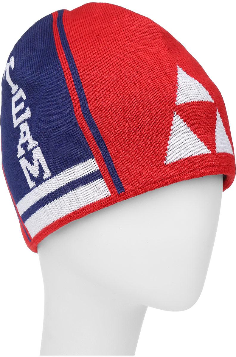 Шапочка лыжная Fischer Team, цвет: красный, синий, белыйG90515-R/WВязаная лыжная шапочка Fischer Team выполнена на 50% из натуральной шерсти и на 50% из высококачественного акрила. Шапочка украшена полосами и логотипом фирмы по бокам. Шерсть, входящая в состав шапки, делает ее теплой и приятной на ощупь, а акрил придает изделию прочность и износостойкость. Внутри флисовая подкладка.Высота шапочки: 21 см.Обхват головы: 48 см.