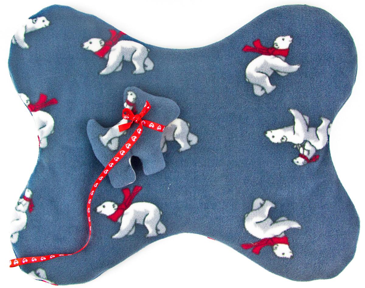 Лежак-коврик для животных Zoobaloo Косточка. Мишки, с игрушкой, 50 х 45 см0120710Великолепный флисовый лежак-коврик Zoobaloo - это отличный аксессуар для вашего питомца, на котором можно спать, играться и снова, приятно устав, заснуть. Он идеально подходит для полов с любым покрытием. Изделиеподдерживает температурный баланс вашего питомца в любоевремя года. Наполнитель выполнен из синтепона.