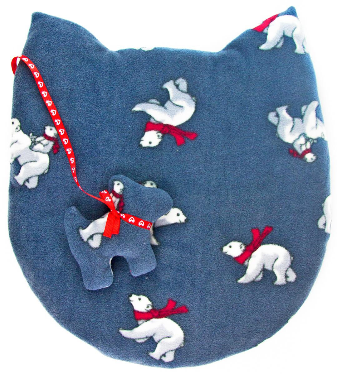 Лежак-коврик для животных Zoobaloo Мордашка. Мишки, с игрушкой, 45 х 50 см0120710Великолепный флисовый лежак-коврик Zoobaloo - это отличный аксессуар для вашего питомца, на котором можно спать, играться и снова, приятно устав, заснуть. Он идеально подходит для полов с любым покрытием. Изделиеподдерживает температурный баланс вашего питомца в любоевремя года. Наполнитель выполнен из синтепона.
