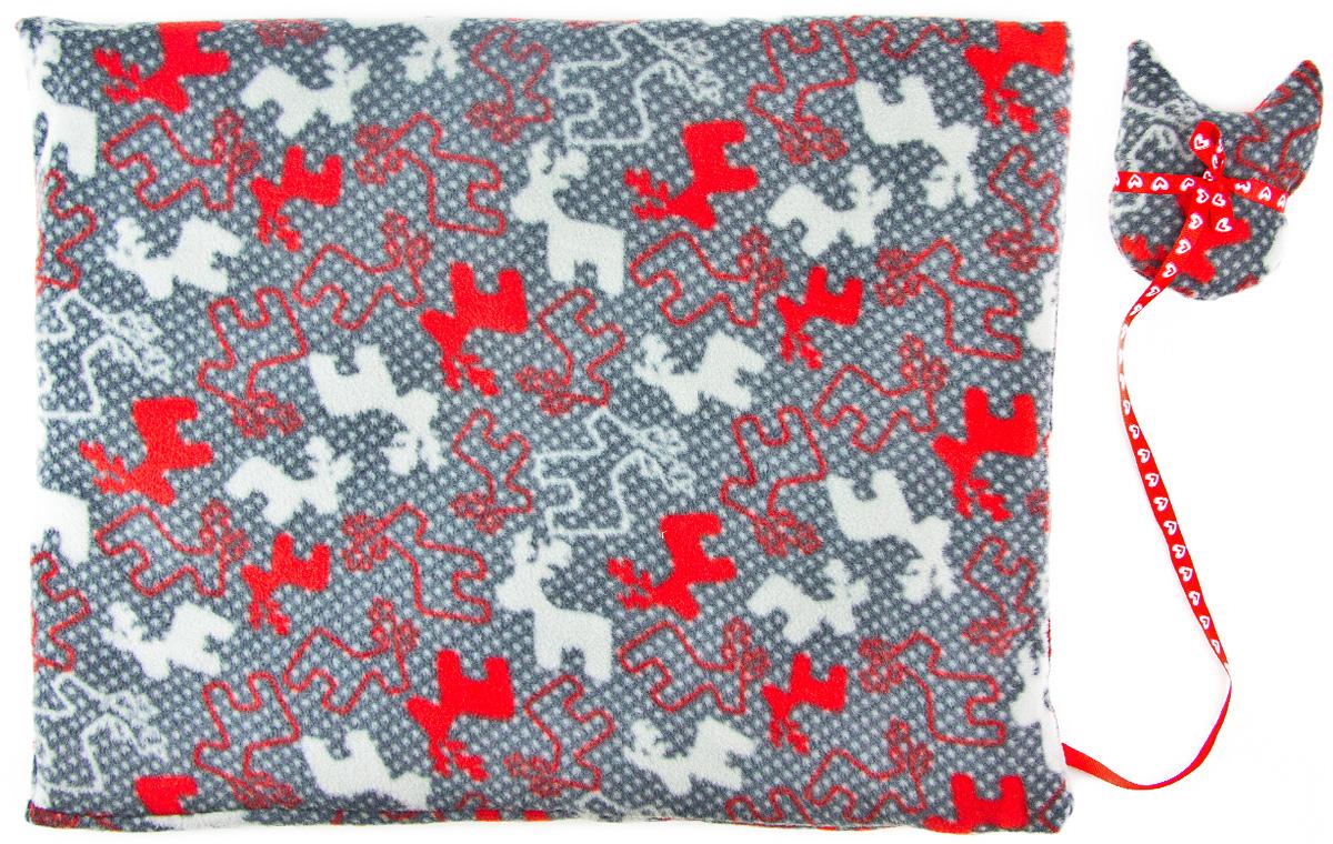 Лежак-коврик для животных Zoobaloo Олени, с игрушкой, 70 х 60 см616Великолепный флисовый лежак-коврик Zoobaloo - это отличный аксессуар для вашего питомца, на котором можно спать, играться и снова, приятно устав, заснуть. Он идеально подходит для полов с любым покрытием. Изделиеподдерживает температурный баланс вашего питомца в любоевремя года. Наполнитель выполнен из синтепона.