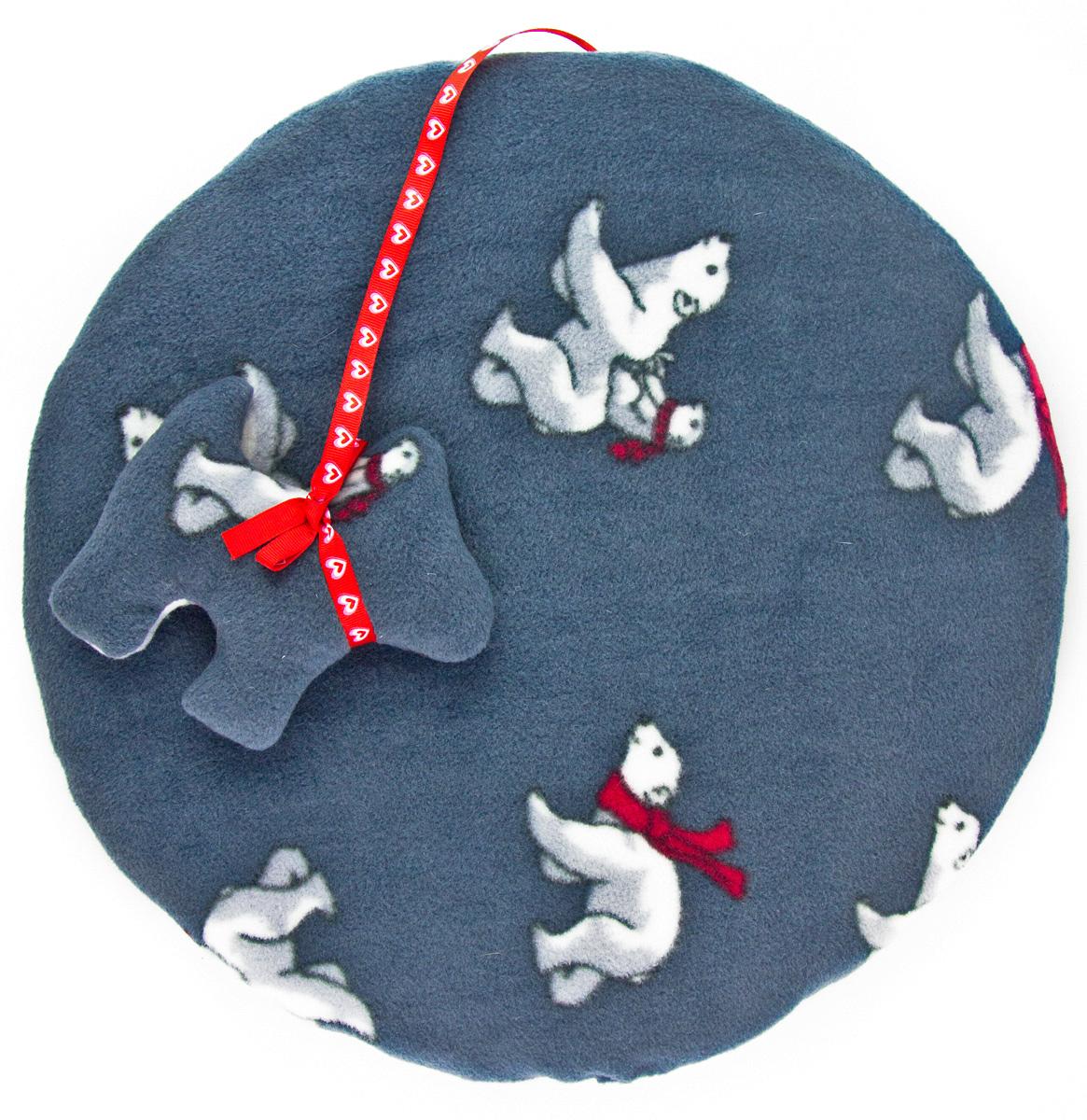 Лежак-коврик для животных Zoobaloo Мишки, с игрушкой, 40 х 40 см626RВеликолепный флисовый лежак-коврик Zoobaloo - это отличный аксессуар для вашего питомца, на котором можно спать, играться и снова, приятно устав, заснуть. Он идеально подходит для полов с любым покрытием. Изделиеподдерживает температурный баланс вашего питомца в любоевремя года. Наполнитель выполнен из синтепона.