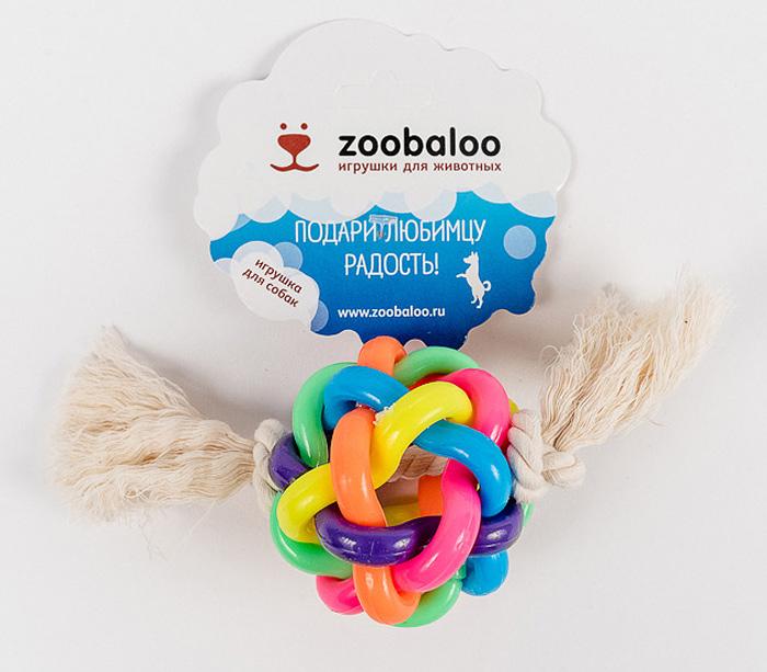 Игрушка для собак Zoobaloo Мяч. 421AD011/FИнтересная и занимательная игрушка Zoobaloo Мяч с необыкновенным сплетением разноцветных латексных колец. Продетая внутри такого мяча веревка из хлопчатобумажной ткани дополняет изысканную композицию для вашего питомца. Без сомнений, с этой вещицей ваш любимец проведет не один час.