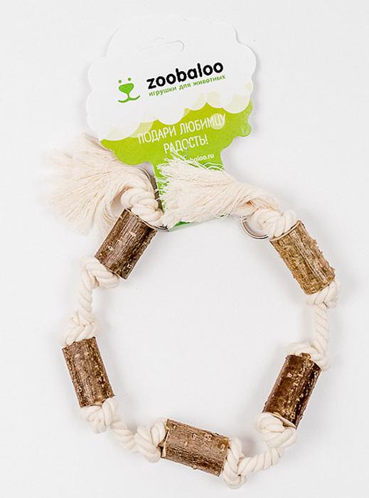 Игрушка для птиц Zoobaloo Гирлянда0120710Оригинальная игрушка для пернатых друзей Zoobaloo Гирлянда изготовлена из хлопчатобумажной веревки и орешника. Имеет карабин для крепления в любом месте клетки.