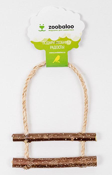 Игрушка для птиц Zoobaloo Лесенка с орешникомsh-07114MОригинальная игрушка Zoobaloo Лесенка с орешником предназначена для поддержания активности ваших питомцев. Сделана из натуральных материалов и оснащена двумя удобными жердочками и колокольчиком.