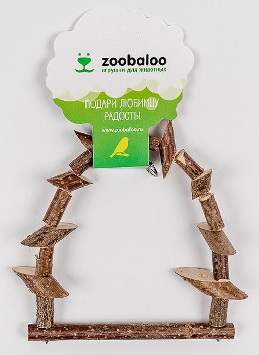 Игрушка для птиц Zoobaloo Качели из брусочков0120710Игрушка Zoobaloo Качели из брусочков в отличие от пластмассовых аналогов производится из высококачественных натуральных материалов и полностью безопасна для ваших питомцев. Качели изготовлены из веток орешника и оснащены карабином для подвешивания в клетке.