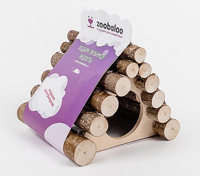 Домик для грызунов Zoobaloo Треугольник, 13 х 10 х 10 см0120710Комфортный деревянный домик Zoobaloo послужит надежным укрытием вашему любимцу, а также идеальным местом для сна и отдыха! Домик весьма просторный, имеет оригинальную треугольную крышу, изготовленную из прутьев орешника, и удобный круглый вход. Этот аксессуар предоставит вашему любимцу минуты отдыха в течение дня. Домик позволит вашему грызуну ощутить максимальный комфорт и уют!