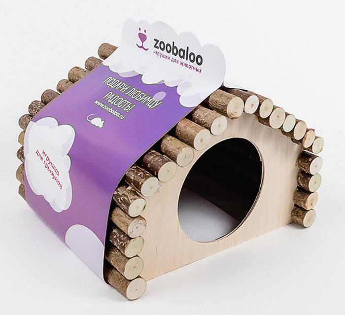Домик для грызунов Zoobaloo Ромб, 23 х 15 х 17 смЛ-20/1_коричневый, лапки белые и розовыеКомфортный деревянный домик для грызунов Zoobaloo послужит надежным укрытием вашему любимцу, а также идеальным местом для сна и отдыха после насыщенного всевозможными делами дня! Домик имеет оригинальную ромбовидную крышу, изготовленную из веток орешника, и удобный круглый вход. Этот аксессуар предоставит вашему любимцу минуты отдыха в течение дня. Домик позволит вашему грызуну ощутить максимальный комфорт и уют! Кроме того, аксессуар является великолепной альтернативой пластиковым домикам и металлическим клеткам.