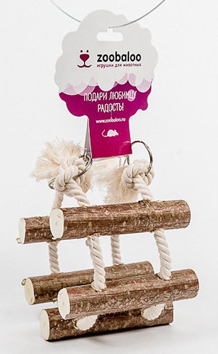 Игрушка для грызунов Zoobaloo Канатная лесенка0120710Игрушка Zoobaloo Канатная лесенка изготовлена из природных материалов: орешника и хлопчатобумажной веревки. С ее помощью ваш питомец будет карабкаться вверх и вниз, поддерживая спортивную форму. Идеально подходит для лечения ваших маленьких грызунов, помогая снизить чрезмерный рост зубов. Подходит для всех грызунов.