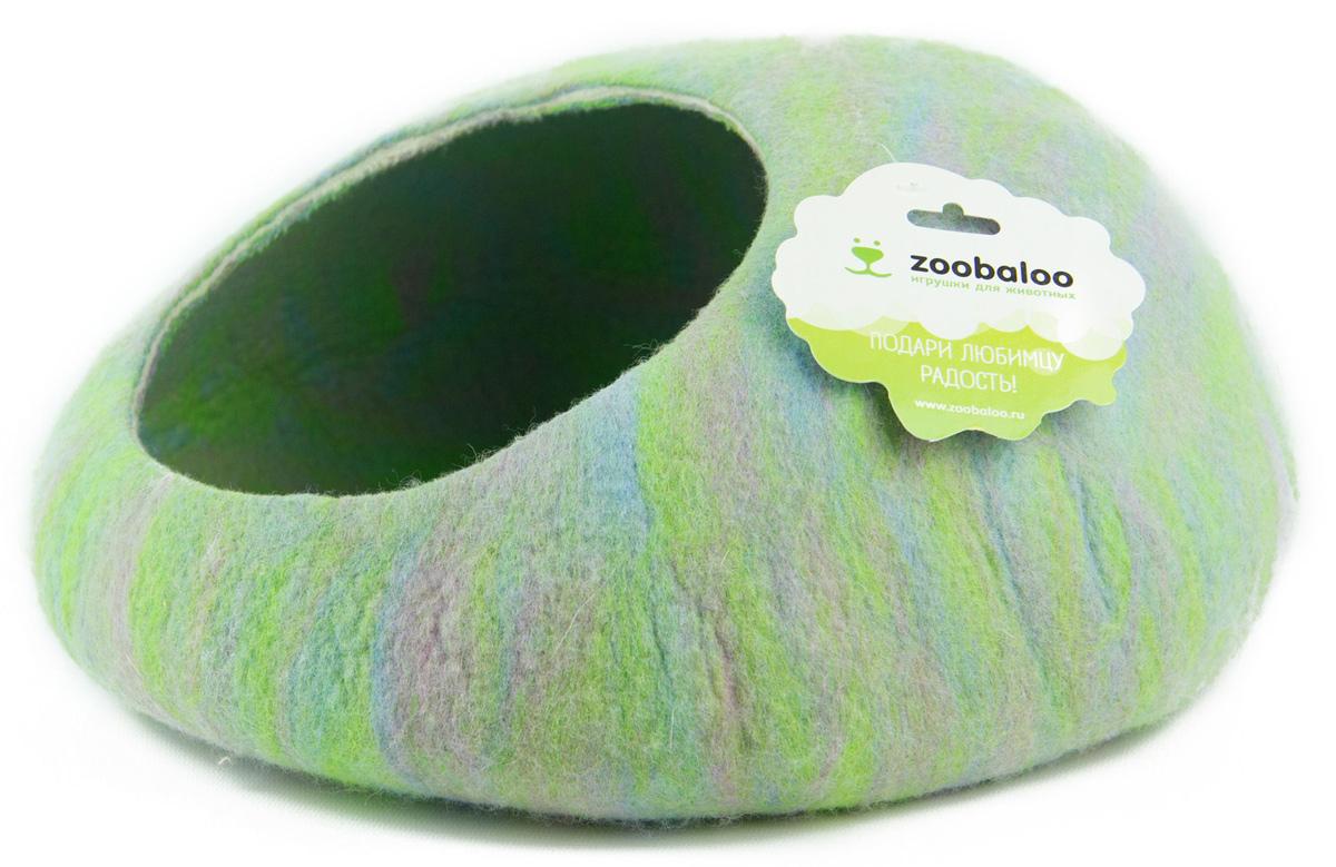 Домик-слипер для животных Zoobaloo WoolPetHouse, цвет: синий, зеленый, размер S0120710Домик-слипер Zoobaloo WoolPetHouse предназначен для отдыха и сна питомца. Домик изготовлен из 100% шерсти мериноса. Учтены все особенности животного сна: форма, цвет, материал этого домика - все подобрано как нельзя лучше! В нем ваш любимец будет видеть только цветные сны. Шерсть мериноса обеспечит превосходный микроклимат внутри домика, а его форма позволит питомцу засыпать в самой естественной позе.