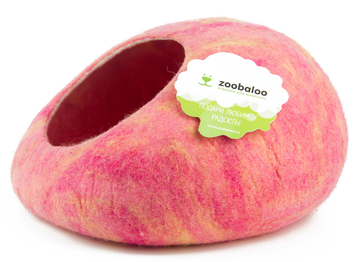 Домик-слипер для животных Zoobaloo WoolPetHouse, цвет: розовый, желтый, размер МЛ-20/2_серый, лапки розовые и белыеДомик-слипер Zoobaloo WoolPetHouse предназначен для отдыха и сна питомца. Домик изготовлен из 100% шерсти мериноса. Учтены все особенности животного сна: форма, цвет, материал этого домика - все подобрано как нельзя лучше! В нем ваш любимец будет видеть только цветные сны. Шерсть мериноса обеспечит превосходный микроклимат внутри домика, а его форма позволит питомцу засыпать в самой естественной позе.