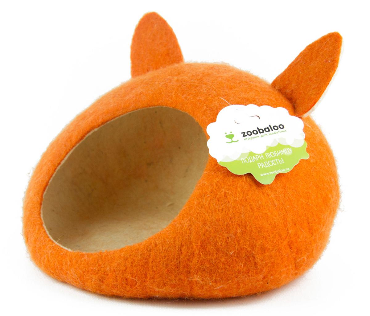 Домик-слипер для животных Zoobaloo WoolPetHouse, с ушками, цвет: оранжевый, размер M0120710Домик-слипер Zoobaloo WoolPetHouse предназначен для отдыха и сна питомца. Домик изготовлен из 100% шерсти мериноса. Учтены все особенности животного сна: форма, цвет, материал этого домика - все подобрано как нельзя лучше! В нем ваш любимец будет видеть только цветные сны. Шерсть мериноса обеспечит превосходный микроклимат внутри домика, а его форма позволит питомцу засыпать в самой естественной позе.