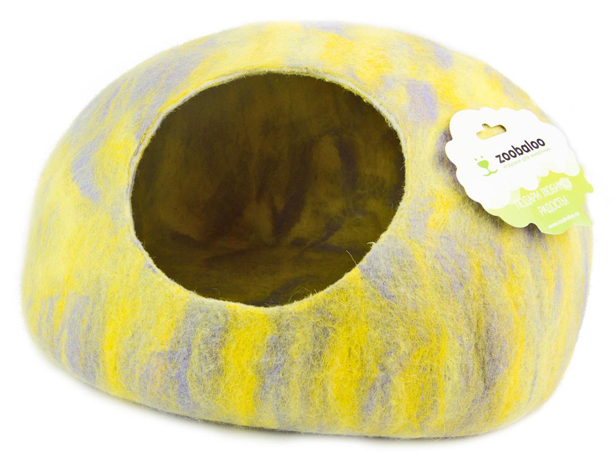 Домик-слипер для животных Zoobaloo WoolPetHouse, цвет: серый, желтый, размер МЛ-29/2_бежевый, лапки коричневые и черныеДомик-слипер Zoobaloo WoolPetHouse предназначен для отдыха и сна питомца. Домик изготовлен из 100% шерсти мериноса. Учтены все особенности животного сна: форма, цвет, материал этого домика - все подобрано как нельзя лучше! В нем ваш любимец будет видеть только цветные сны. Шерсть мериноса обеспечит превосходный микроклимат внутри домика, а его форма позволит питомцу засыпать в самой естественной позе.