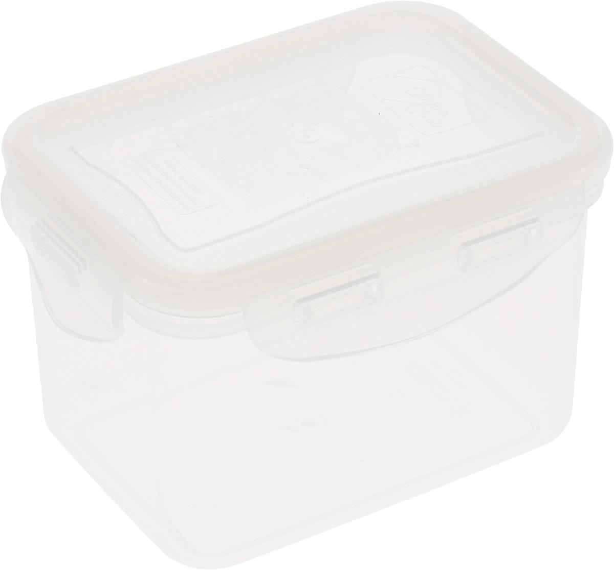 Контейнер пищевой Good&Good, цвет: прозрачный, 630 мл02-2_прозрачныйПрямоугольный контейнер Good&Good изготовлен из высококачественного полипропилена и предназначен для хранения любых пищевых продуктов. Благодаря особым технологиям изготовления, лотки в течение времени службы не меняют цвет и не пропитываются запахами. Крышка с силиконовой вставкой герметично защелкивается специальным механизмом. Контейнер Good&Good удобен для ежедневного использования в быту.Можно мыть в посудомоечной машине и использовать в микроволновой печи.Размер контейнера (с учетом крышки): 13 х 10 х 8,5 см.