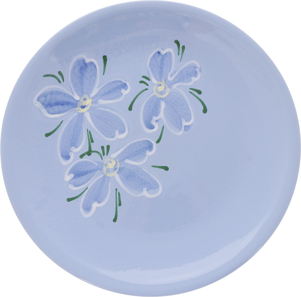 Тарелка Борисовская керамика Cтандарт, цвет: голубой, зеленый, белый, диаметр 23 см. ОБЧ00000586115610Тарелка плоская Cтандарт выполнена из высококачественной керамики. Внутренняя часть тарелки оформлена ярким рисунком с изображением цветка.Тарелка Борисовская керамика Cтандарт идеально подойдет для сервировки стола и станет отличным подарком к любому празднику. Изделие может использоваться как подставка под любую другую посуду.Можно использовать в духовке и микроволновой печи.Диаметр (по верхнему краю): 23 см.