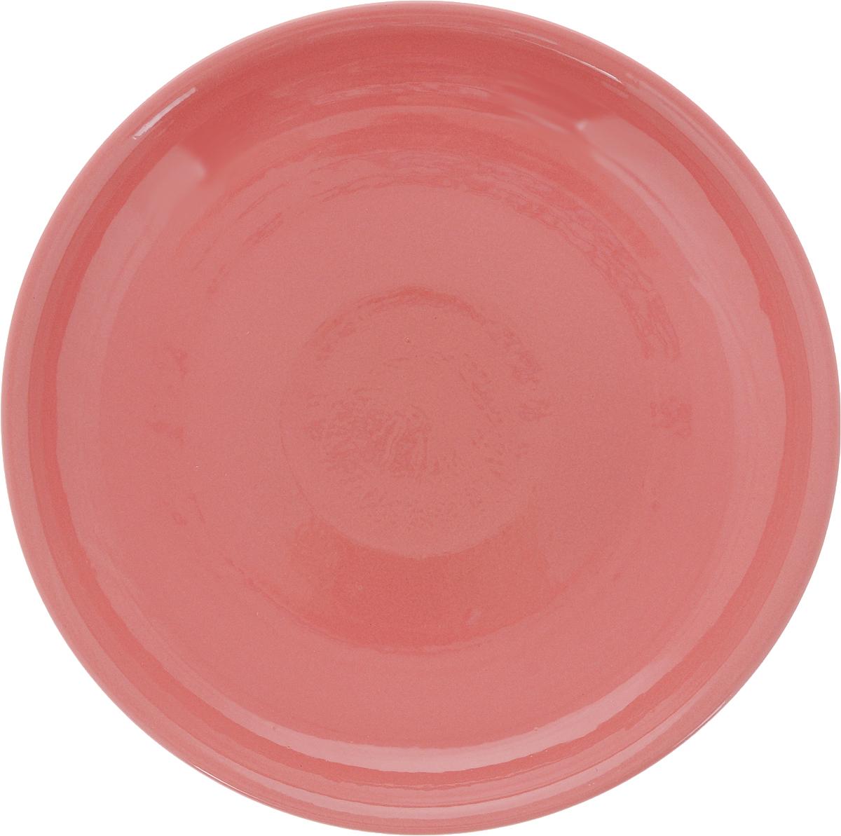 Тарелка Борисовская керамика Радуга, цвет: розовый, диаметр 18 см54 009312Тарелка Борисовская керамика Радуга выполнена из высококачественной керамики. Изделие идеально подойдет для сервировки стола и станет отличным подарком к любому празднику. Можно использовать в духовке и микроволновой печи.
