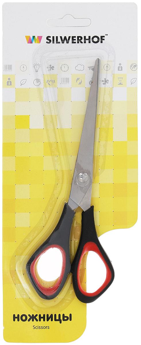 Silwerhof Ножницы офисные Titanlinie 16 смFS-54111Офисные ножницы Silwerhof Titanlinie имеют лезвия из высококачественной нержавеющей стали с титановым покрытием, а также специальные прорезиненные вставки на кольцах.Ножницы предназначены для резки бумаги, картона, фотографий.