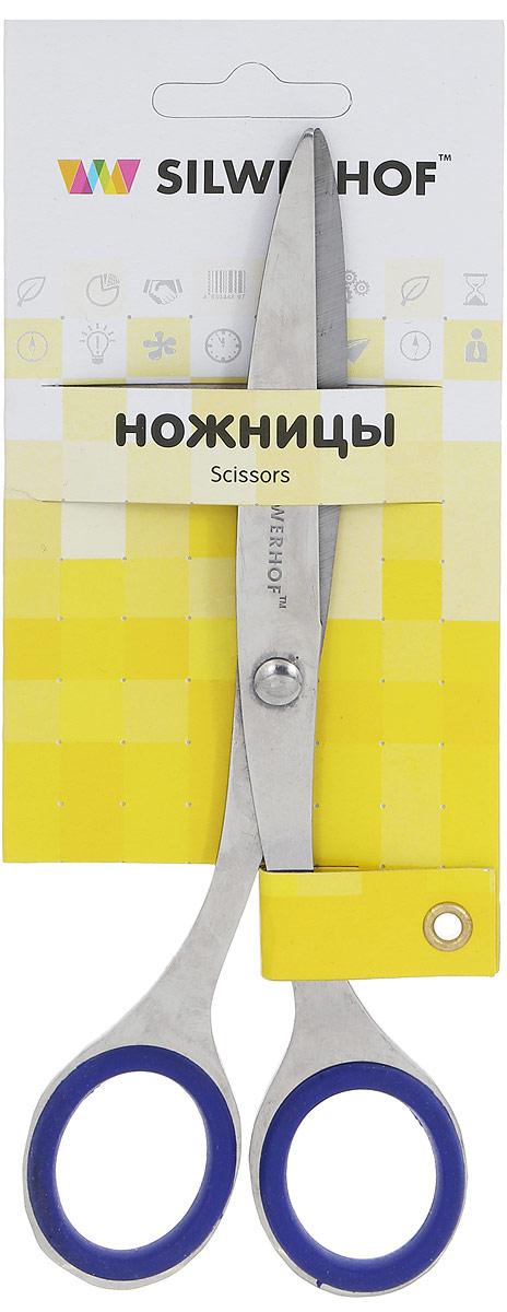 Silwerhof Ножницы офисные Prestigelinie 16,5 смFS-36054Удобные и практичные офисные ножницы Silwerhof Prestigelinie могут использоваться как для домашних нужд, так и для работы в офисе.Предназначены для резки бумаги, картона, фотографий. Длинные и прямые стальные лезвия качественно заточены по всей длине и плотно прилегают друг к другу. Благодаря резиновым вставкам на кольцах ножницы не будут давить на пальцы и натирать.