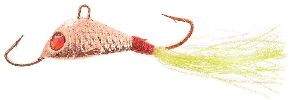 Балансир Finnex, длина 3,5 см, вес 5 г. BLR1- CU+PGPS7797CIS08GBNVБалансир Finnex имеет светящийся хвостик, который поможет приманить рыбу на глубине в несколько метров. Форма этого балансира напоминает мелкую рыбку. Балансир оснащен блестящим глазком, что делает его более заметным и позволяет привлечь рыбу с более дальнего расстояния. Изделие изготовлено из прочного свинцового сплава с элементами пластика.