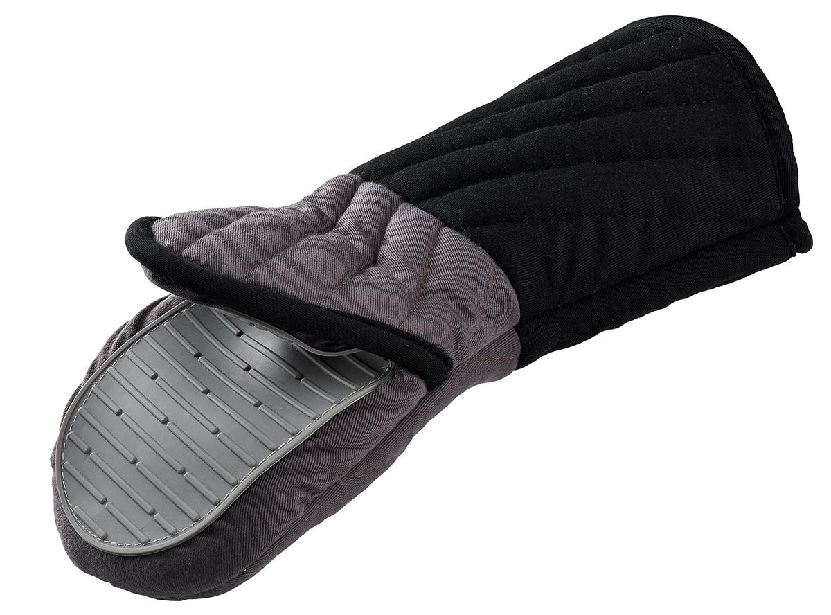 Прихватка Tefal Comfort Touch, с силиконовым покрытиемCLP446Рукавица-прихватка Tefal Comfort Touch поможет аккуратно достать горячее блюдо и не обжечь руки. Рукавица изготовлена из простроченного текстиля и оснащена силиконовым покрытием, которое выдерживает высокие температуры (до 230°C). Изделие оснащено петелькой, благодаря которой прихватку можно подвесить. Не подвергается воздействию огня.Такая прихватка - помощница любой хозяйке и незаменимый аксессуар на кухне!