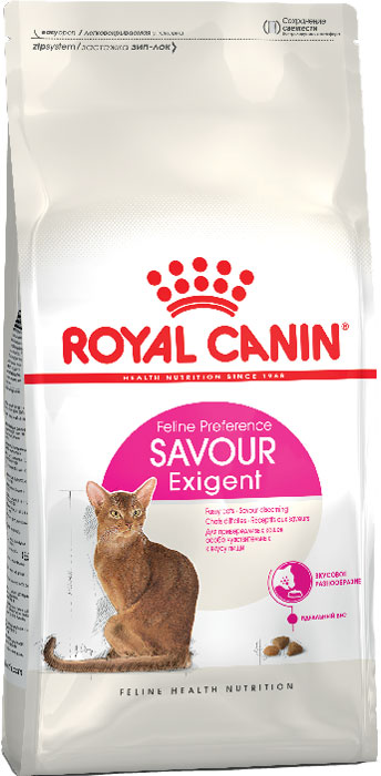 Корм сухой Royal Canin Exigent 35/30 Savoir Sensation, для кошек, привередливых к вкусу продукта, 10 кг0120710Сухой корм Royal Canin Exigent 35/30 Savoir Sensation является полнорационнымсбалансированным кормом для очень привередливых к вкусу продукта взрослыхкошек ввозрасте старше 1 года. Наличие индивидуальных пищевых предпочтенийозначает, чтокаждая кошка по-своему интерпретирует аромат, текстуру, вкус корма иощущения послеегопотребления. Корм, помимо вкусовых качеств, обладает также рядом другихоригинальных,специфических свойств. Особенности корма Royal Canin Exigent. Savor Sensation:- корм содержит два типа крокетов, различных по форме, текстуре и составу,обладающихвзаимодополняющими свойствами;- особая рецептура корма обладает умеренной калорийностью, что помогаетподдерживатьидеальный вес кошки;- комплекс входящих в состав корма активных питательных веществ,включающий биотинимасло огуречника аптечного, способствует красоте шерсти кошки.Royal Canin - лидер на рынке производства рационов для собак икошек,благодаря каждодневной исследовательской работе в области питания длядомашнихживотных.Состав: кукуруза, дегидратированное мясо птицы, рис, изолятрастительныхбелков, животные жиры, кукурузная клейковина, гидролизат белков животногопроисхождения, растительная клетчатка, минеральные вещества, свекольныйжом,дрожжи, соевое масло, фосфат натрия, яичный порошок, фруктоолигосахариды,экстрактпаприки, масло огуречника аптечного.Добавки (на 1 кг): Питательные добавки: Витамин A: 15700 ME, Витамин D3: 800 ME, Железо: 38 мг, Йод: 2,9 мг, Марганец: 49 мг, Цинк: 162 мг, Ceлeн: 0,1 мг - Консервант: сорбат калия - Антиокислители: пропилгаллат, БГА.Товар сертифицирован.