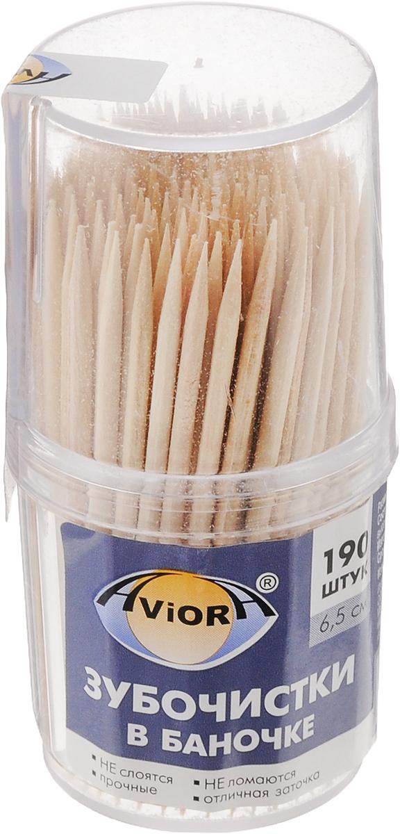 Зубочистки Aviora, 190 шт115510Зубочистки Aviora предназначены для ухода за полостью рта после приема пищи. Изготовлены из древесины высокой плотности. Не слоятся, не ломаются, прочные, имеют отличную заточку. Можно использовать в качестве шпажек для канапе. Изготовлены без отбеливания. Поставляются в прозрачной пластиковой баночке. Длина зубочистки: 6,5 см.