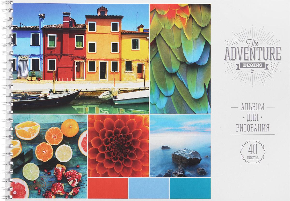 ArtSpace Альбом для рисования The Adventure 40 листов2010440Альбом для рисования ArtSpace The Adventure будет вдохновлять ребенка на творческий процесс.Альбом изготовлен из белоснежной бумаги с яркой обложкой из плотного картона. Внутренний блок альбома состоит из 40 листов бумаги, соединенных металлическим гребнем.Высокое качество бумаги позволяет рисовать в альбоме карандашами, фломастерами, акварельными и гуашевыми красками.Во время рисования совершенствуются ассоциативное, аналитическое и творческое мышления. Занимаясь изобразительным творчеством, малыш тренирует мелкую моторику рук, становится более усидчивым и спокойным.