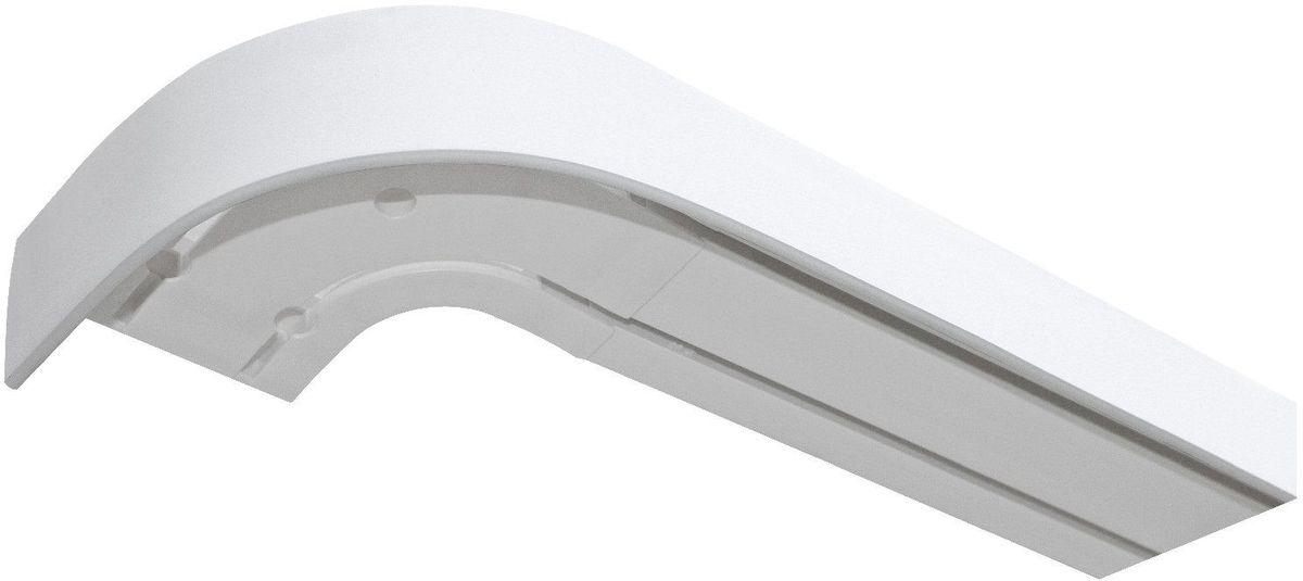 Багет Эскар, цвет: белый, 5 х 350 смIRK-503Багет Эскар представляет собой изготовленную из поливинилхлорида (ПВХ) полую пластину, применяющуюся как потолочный карниз.Багет для карниза крепится к карнизным шинам. Благодаря багетному карнизу, от взора скрывается верхняя часть штор (шторная лента, крючки), тем самым придавая окну и интерьеру в целом изысканный вид и шарм.