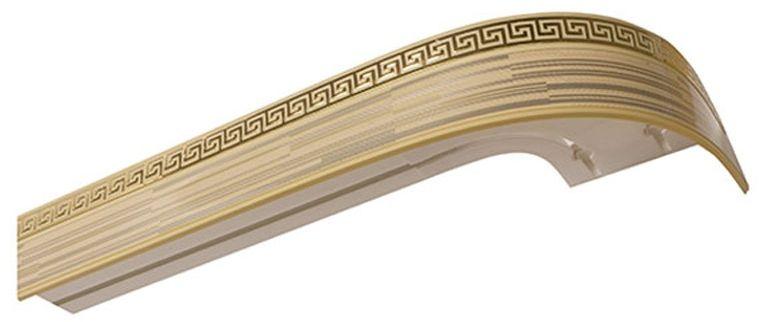 Багет Эскар Золото Зебрано Греция, цвет: светлая подложка, золотистый, 5 см х 350 смDAVC150Багет для карниза крепится к карнизным шинам. Благодаря багетному карнизу, от взора скрывается верхняя часть штор (шторная лента, крючки), тем самым придавая окну и интерьеру в целом изысканный вид и шарм.Вы можете выбрать багетные карнизы для штор среди широкого ассортимента багета Российского производства. У нас множество идей использования багета для Вашего интерьера, которые мы готовы воплотить!Грамотно подобранное оформление – ключ к превосходному результату!!!