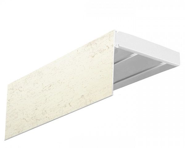 Багет Эскар Кракэ, 7 х 200 см1004900000360Багет Эскар представляет собой изготовленную из поливинилхлорида (ПВХ) полую пластину, применяющуюся как потолочный карниз.Багет для карниза крепится к карнизным шинам. Благодаря багетному карнизу, от взора скрывается верхняя часть штор (шторная лента, крючки), тем самым придавая окну и интерьеру в целом изысканный вид и шарм.