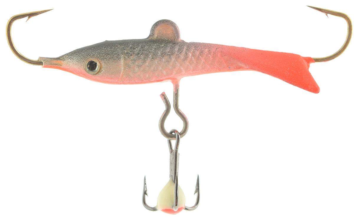 Балансир Dixxon Classic, цвет: розовый, серый, длина 3,5 см, 5 г. 58451010-01199-23Балансир Dixxon Classic удлиненной формы c тремя крючками предназначен для ловли средних рыб со льда и на мелководье. Изделие изготовлено из прочного металла и оснащено тройным крючком и высококачественными впаянными крючками. Форма этого балансира напоминает мелкую рыбку. Балансир окрашен в яркие цвета, что делает его более заметным и позволяет привлечь рыбу с более дальнего расстояния.