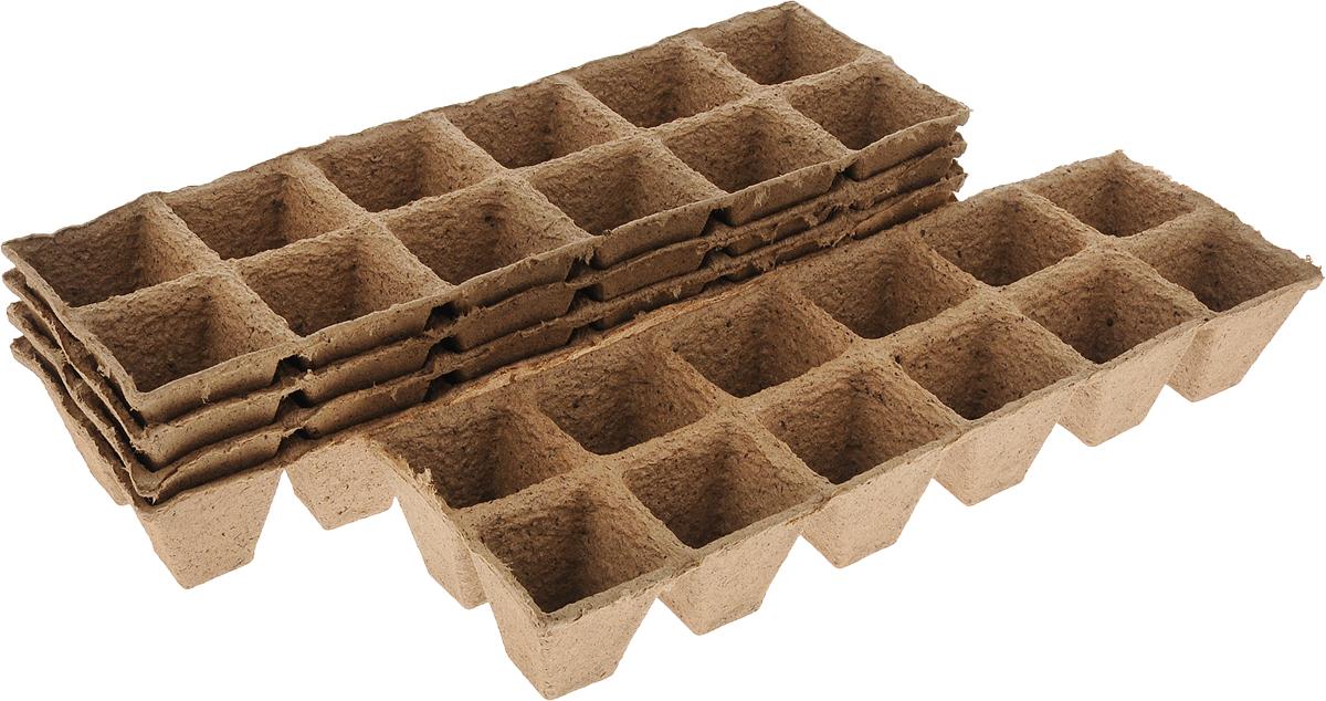 Торфяной горшочек Добрая сила, для выращивания рассады, 5 х 5 х 5,5 см, 60 шт391602Горшочек Добрая сила является органическим продуктом и представляет собой полую емкость, стенки которого выполнены из торфо-древесной массы с добавлением мела.Рекомендуется для лучшего прорастания накрыть горшочки стекломили пленкой. Выращенную рассаду необходимо высаживать в грунт вместе с горшком.В комплекте 5 блоков по 12 горшочков.Состав: торф верховой 70%, древесная масса 30%, мел, pH не менее 5,5.Размер горшка: 5 х 5 х 5,5 см.Размер одного блока: 31,5 х 10,5 х 5,5 см.
