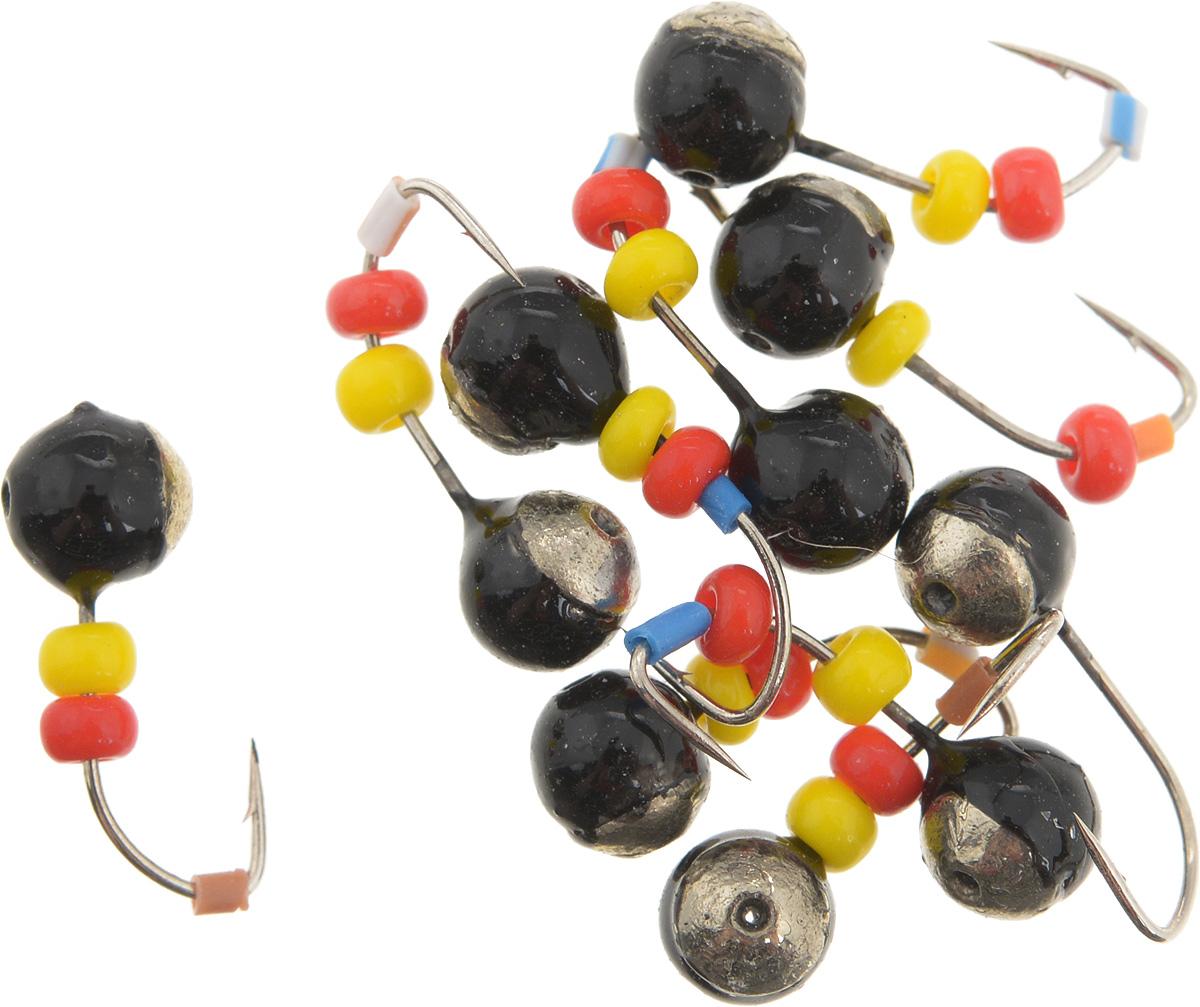Мормышка вольфрамовая Dixxon Шар, с отверстием, с бисером, диаметр 4 мм, 0,65 г, 10 шт. 5941159411Мормышка Dixxon Шар изготовлена из вольфрама и оснащена крючком. Главное достоинство вольфрамовой мормышки - большой вес при малом объеме. Эта особенность дает большие преимущества при ловле, так как позволяет быстро погрузить приманку на требуемую глубину и лучше чувствовать игру мормышки. Подходит для подледной ловли.